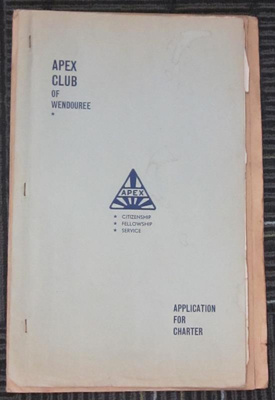Application for Charter by Wendouree Apex Club; Wendouree Apex Club; 1961; 2013.0737