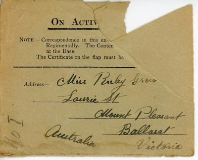 Envelope; Charles Reakes; 1915-1918; 09.0398