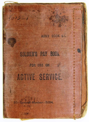 Soldiers Pay Book; 1915-1916; 84.0739