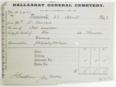 Three Receipts; 1892; 79.0357
