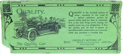 Blotters; Crossley Motors; 1906-1969; 82.0865
