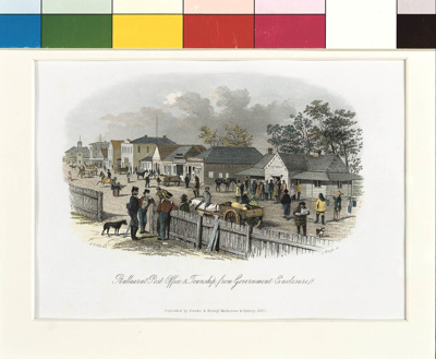 Ballarat Post Office & Township From the Government Camp; S.T. Gill; 1857; 01.0208
