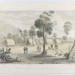 Engraving, 'Commissioner's Tent and Officers' Quarters, Forest Creek', 1851; David Tulloch; Dec 1851; 2019.2628