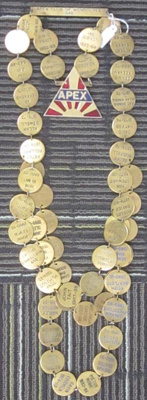 Apex Club of Wendouree - Presidents Chain of Office; 1960-2013; 2013.0743