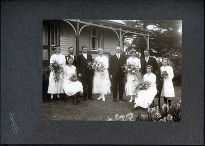 Photographs, Coutts double wedding; Richards & Co.,; 02 Sep 1920; 2016.0386