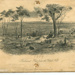 """Lithograph: """"Ballarat Flat from the Black Hill 1859""""; Sands & Kenny; S.T. Gill; 266.81"""