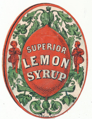 Label - Superior Lemon Syrup; F.W. Niven & Co.; 2018.0185