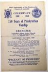 150 Years of Presbyterian Worship at Ebenezer.; Hawkesbury Consolidated Press; Presbyterian Church of Australia; 16 May 1959; 78.2953