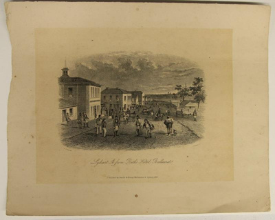 Lydiard St. from Bath's Hotel, Ballaarat; Sands & Kenny; S.T. Gill; 1857; 02.0659