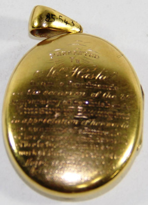 Gold Locket; 1877; 85.0543