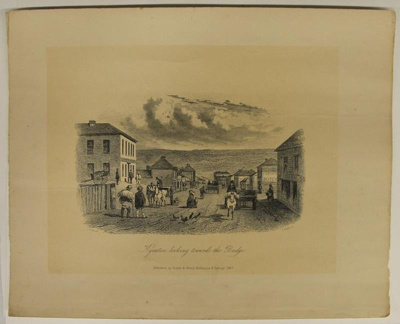Kyneton, looking towards the Bridge; Sands & Kenny; S.T. Gill; 1857; 02.0666