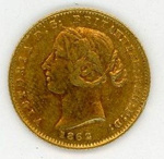 Coin, 1/2 Sovereign, 1862; Royal Australian Mint; 1862; 76.0035