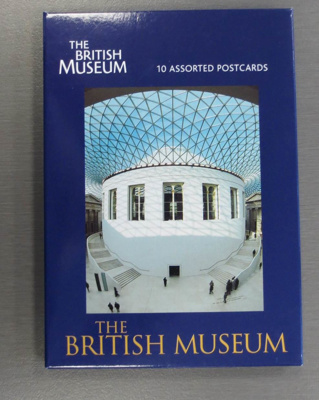 The British Museum (Nine postcards), Blue cover, white lettering, colour photograph on front..