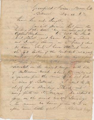 Letter from John Finlay; 24 Nov 1867; 05.1314
