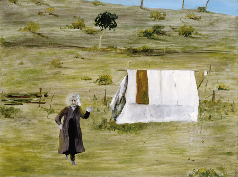 Woman and tent; Sidney Nolan; 1946; 75-A-18 & Woman and tent; Sidney Nolan; 1946; 75-A-18 on eHive