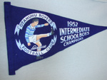 Otahuhu Rovers Football (League) Club 1952  Intermediate Schoolboys Champions Banner; Unknown; 1952; OHS OJ002