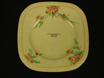 Plate, Hall's General Store; J & G Meakin; OHS OJ 0005