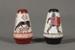 Salt and pepper shakers; ca. 1960 AD; CC39