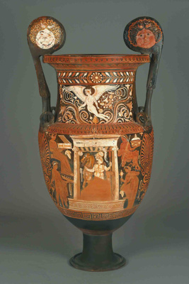 Volute Krater; Attributed to the Ganymede Painter; ca. 330-320 BC; 158.75
