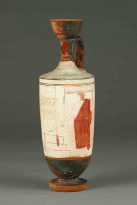 Lekythos; Attributed to the Sabouroff Painter; Mid 5th Century BC; 16.53