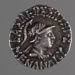 Coin, silver drachm, Menander; Mid 2nd Century BC; 180.96.7