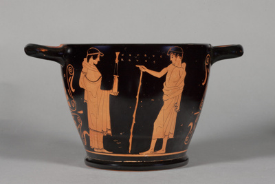 Skyphos ; Attributed to the Splanchnopt Painter; 460-440 BC; 44.57