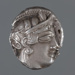 Coin, silver tetradrachm, Egypt; Early to mid Fourth Century BC; 202.06.2
