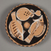 Fish Plate; Attributed to the Three-Stripe Painter (Torpedo Group); ca. 330-320 BC; 102.69