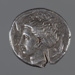 Coin, silver tetradrachm, Dionysios I; Late 5th to early 4th Century BC; 202.06.1