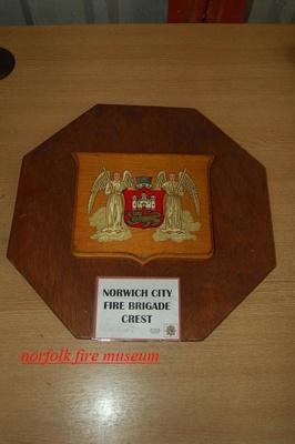 Appliance brigade crest - City of Norwich; NFMBDM2013.78
