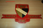 Appliance brigade crest - Norfolk Fire Service; NFMBDM2013.80