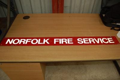 Appliance brigade sign - Norfolk Fire Service; NFMBDM2013.70