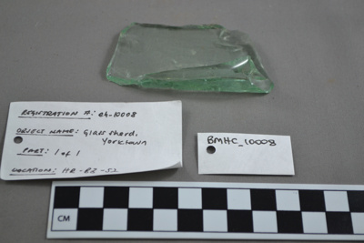Glass sherd from York Town, Tasmania; BMHC_10008