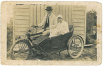 Hinds family on motorcycle & side car; c. 1920; BMHC_10090