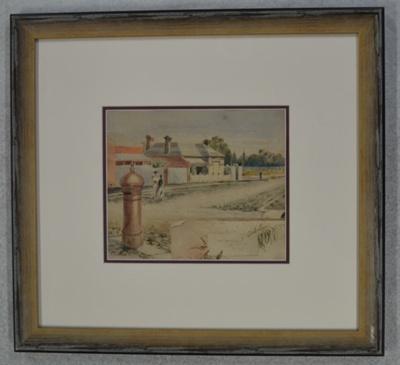 Suburban street scene; unknown; c. 1882; GSM_02403