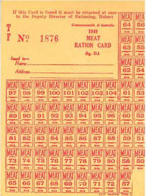 Ration coupons; 1948; BMHC_13254
