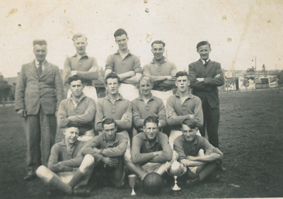 Soccer team, Tasmania, 1940s