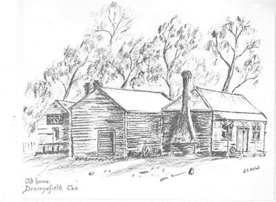 Old home, Beaconsfield, Tasmania; Nichol, E G; 1965; BMHC_10744