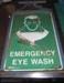 Eye wash station sign; Brady, Australia; c 2005; BMHC_10922