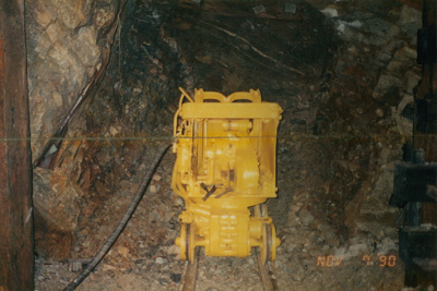 Small loader, 'Harry's cross cut' Beaconsfield gold mine; unknown; 07-11-1990; BMHC_14769