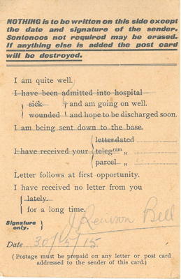 Field service postcard; 20-05-1915; BMHC_13246