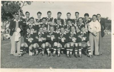 'Swans' football team, Beaconsfield, Tasmania