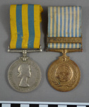 Medals, pair, Korean War, issued to Private Rupert Douglas Duffy, 3 RAR; c. 1953 - 1955; BMHC_14278