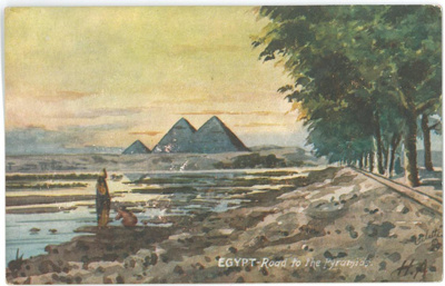 Egypt - Road to The Pyramids; Raphael Tuck & Sons; c 1914; BMHC_10798