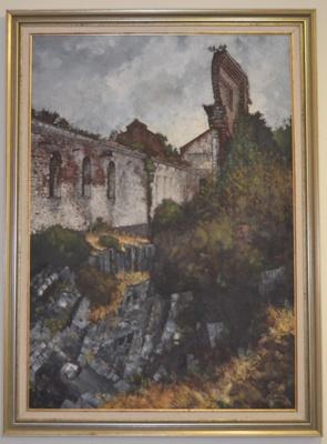 Grubb Shaft ruins, Beaconsfield, Tasmania; Gardam, Lindsay; 1982; BMHC_10669