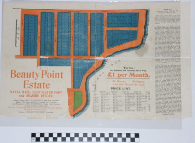 Beauty Point Estate land sales brochure; Burke, TM; c.1917; BMHC_11056