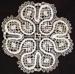 Doily, cream bobbin lace; 97.169