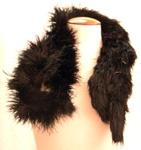 Feather boa, black; c. 1920; 98.7