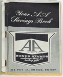 """AA Savings Book""; AA Bonus Stamps; [1940-1960]; 2014.8.4"