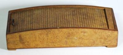 Pencil case, wood; 2014.217.1